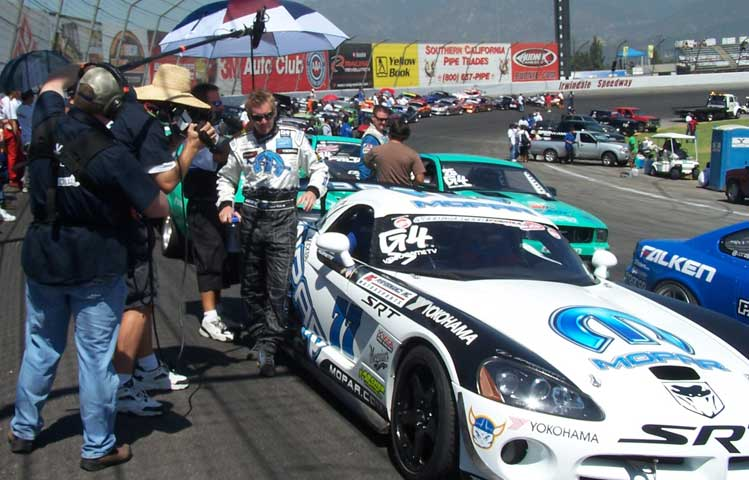 On the Irwindale Speedway with G4 TV